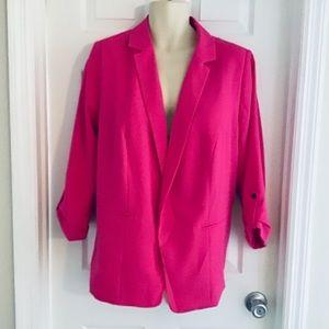 Worthington Malibu Pink Cuffed Sleeve Blazer